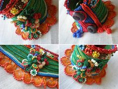 Phymosia Rosea   Freeform Crochet Cuff  by irregularexpressions, $168.00