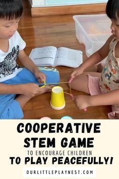 Games For Children, Games For Preschoolers, Indoor Games For Kids, Fun Games For Kids, Games For Toddlers, Science For Kids, Fun Toddler Activities, Cooperative Learning Activities, Cooperative Games