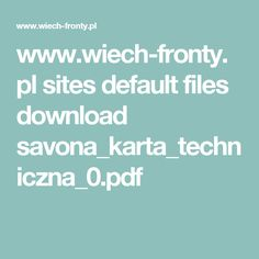 www.wiech-fronty.pl sites default files download savona_karta_techniczna_0.pdf