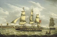 """""""A Packet off Liverpool"""" by Robert Salmon, 1809."""