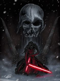 absurdres darth_vader energy_sword helmet highres kylo_ren lightsaber mask snowing solo star_wars star_wars:_the_force_awakens sword takumi_(marlboro) weapon Star Wars Sith, Star Wars Kylo Ren, Images Star Wars, Star Wars Pictures, Darth Vader, Star Wars Tattoo, Sith Tattoo, Star Wars Wallpaper, Star Wars Fan Art