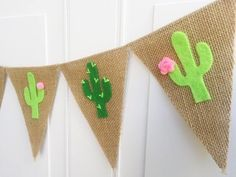 Cactus Banner – Cactus Decor – Cactus Party – Felt Cactus Garland – Cactus Baby Shower – Summer Banner, Fiesta Party Decorations, Taco Party – Famous Last Words Deco Cactus, Cactus Decor, Cactus Cactus, Fiesta Party Decorations, Party Themes, Ideas Party, Cactus Craft, Diy Girlande, Llama Birthday