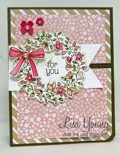 Summer Wreath by genesis - Cards and Paper Crafts at Splitcoaststampers