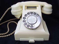 Ivory (aka cream) British 332 telephone from 1953.