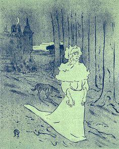 Henri De Toulouse-Lautrec -  La Chatelaine (La Depeche-Le Tocsin) 1895