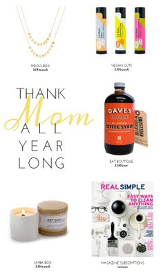 The Best Subscription Gifts for Mother's Day 2014 / Frock files. A subscription that keeps giving all year! Awesome!
