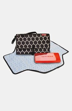 Perfect kit has room for all of your diaper changing essentials and is easy to carry with either the top handle it wristlet strap.