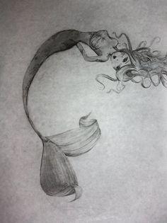 Mermaid Sketch by sanguineselkie.deviantart.com
