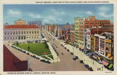 showing Boston Public Library, Boston
