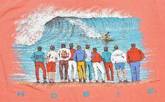 1987 Hobie Surf Shirt Vintage Size XL Tee T-Shirt Summer Fun Beach Body Glove Water Sports Gecko