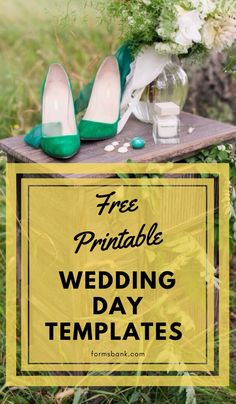 Use our free printable wedding template to create a schedule of events for your guests that doubles as a keepsake. Making your own wedding program is an easy way to save money for your wedding and no one will ever notice you made it yourself!