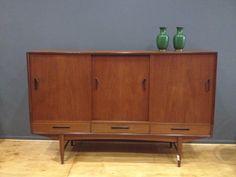 Decada Muebles Vintage Credenza de madera, Sideboard, Furniture, Vintage, Danesa www.decada.com.mx