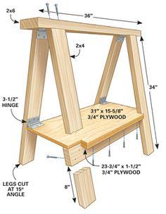 or I may build this sawhorse, www.thehandyman.com