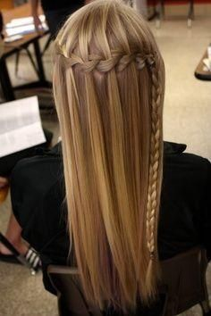 Ways to wear the waterfall braid
