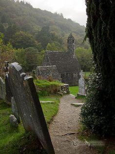 Ireland - Glendalough (St. Kevin's Church II)