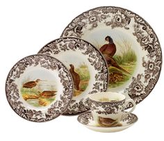 Spode Woodland Five Piece Place Setting $112.59, You Save $48.26