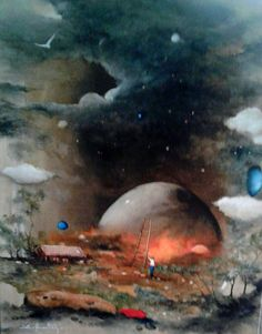 Red planet  Oilpaintingoncanvas  Painter.Selim Güventürk  40x50 cms.dim. Ankara