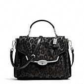MADISON SMALL SADIE FLAP SATCHEL IN CHENILLE OCELOT Style No. 26284 $278