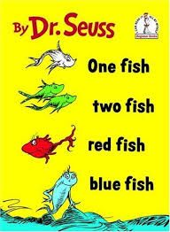 one fish two fish red fish blue fish - counting and colors