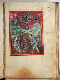 Treatise of the World's Creation - World Digital Library Duccio Di Buoninsegna, Book Of Genesis, Adam And Eve, Watercolor Drawing, Fresco, Beast, Miniatures, Scene, Museum