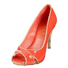 "cheap cute coral shoes (I wish there was a word for shoes that started with ""c"" so I could keep up the alliteration!)"