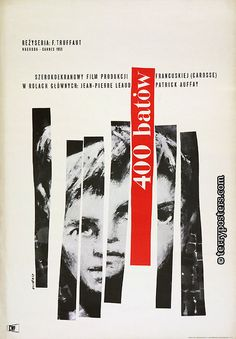 The 400 Blows (François Truffaut, 1959) Polish design by Waldemar Swierzy