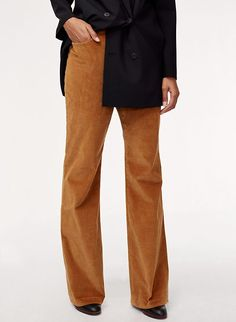 Inspired by decades past, the Joey is made from stretch corduroy with a high-rise flared fit. Back patch pockets add to the casual, laid-back vibe. High Waisted Flares, Pants For Women, Clothes For Women, High Rise Pants, Navy Color, Corduroy Pants, Fashion Pants, Wide Leg Pants, Winter Outfits