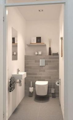 If you have a small bathroom in your home, don't be confuse to change to make it look larger. Not only small bathroom, but also the largest bathrooms have their problems and design flaws. Wc Design, Home Design, Design Ideas, Bath Design, Bathroom Design Small, Modern Bathroom, Cloakroom Ideas Small, Small Bathrooms, Bathroom Designs