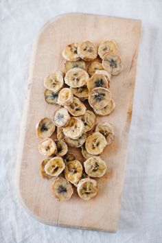 Homemade banana chips! I made some and they're in the oven right now and smell delicious!