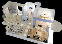 vista tridimensional de una casa - Buscar con Google