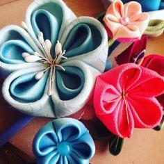 #tsunamikanzashi #kanzashi #fabric #silk #handmade #tela #nippon #japan #japon