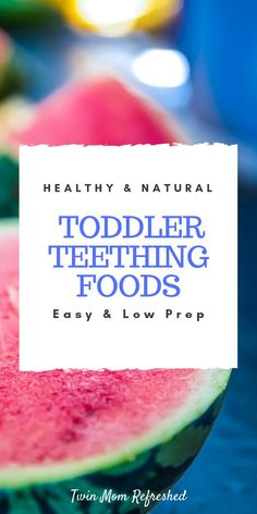 Natural and healthy teething food remedies for your teething baby or toddler. These teething ideas work great for my twins! Baby Teething Remedies, Teething Relief, Natural Teething Remedies, Teething Chart, Fruit Crush, Healthy Toddler Meals, Toddler Food, Teething Biscuits, Teeth Bleaching
