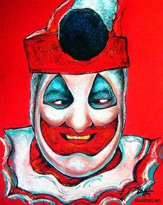 John Wayne Gacy  Original Drawing  Serial Killer Pogo by chuckhodi, $60.00