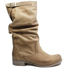 Stivali Biker Boots in Vera Pelle Nabuk spazzolata Vintage a35daa1f745