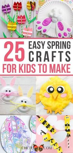 25 Easy Spring Crafts For Kids To Make 25 Best easy spring crafts for kids to make: simple spring crafts for toddlers & spring crafts for preschool kids. From quick & easy easter crafts for kids to spring crafts for kids art projects in the classroom, educational spring crafts for kids and spring crafts for fine motor skills. These homemade Easter crafts for kids ideas are creative & super fun. DIY spring crafts for kids outdoor, elementary spring crafts for kids. #springcrafts… Edible Crafts, Bunny Crafts, Bird Crafts, Easter Crafts For Kids, Easy Crafts, Easter Art, Easter Decor, Crafts For Kids To Make, Projects For Kids