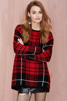 UNIF Jumbo Plaid Sweater | Shop Clothes at Nasty Gal