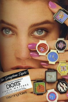 Remember these Finger Watches called Digits..I had one and Swatch watches too actually still have both of my Swatches!