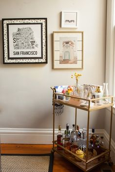 """Explore our internet site for more information on """"bar cart decor inspiration"""". It is actually an exceptional spot to read more. Bar Cart Styling, Bar Cart Decor, Bar Deco, Petits Bars, San Francisco Houses, Relax, Humble Abode, Home Decor Furniture, Bars For Home"""