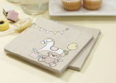 Rocking Horse Baby Shower Napkins - Rock a Bye Baby