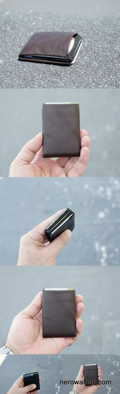 Limited Edition - Nappa Leather Wallet, Minimalist Wallet - Smooth Leather, Mens Wallet, Slim Leather Wallet RFID - Original Nero Wallet