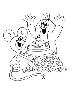 16 The Mole printable coloring pages for kids. Find on coloring-book thousands of coloring pages. Printable Coloring Pages, Coloring Pages For Kids, Coloring Books, La Petite Taupe, Diy And Crafts, Crafts For Kids, The Mole, Birthday Coloring Pages, Cake Templates