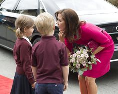 Crown Princess Mary attended the opening of the International School of Aarhus Academy for Global Education on September 16, 2015 in Aarhus, Denmark.