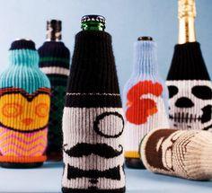 When it's Beer O'Clock, here's some beer cozies to brighten your happy hour... http://www.brit.co/koozies/