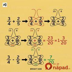 Nine simple math tricks you'll wish you had always known - Schmetterlingsmethode bei Add/Sub von Brüchen Nine simple math tricks you'll wish you had always - Math Strategies, Math Resources, Math Activities, Math Tips, Math For Kids, Fun Math, Math Charts, Math Formulas, Simple Math