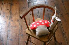 Cute toadstool cushion
