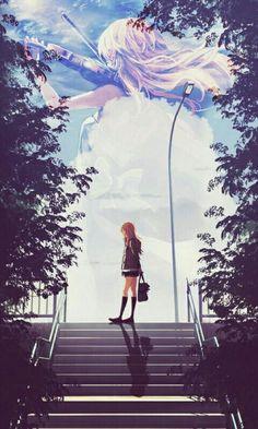 Manga Girl, Anime Art Girl, All Anime, Me Me Me Anime, Manga Anime, Animes Wallpapers, Cute Wallpapers, Miyazono Kaori, Japon Illustration