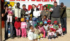 Dgini Visser (3rd from right, back row) coordinates Gondwana's social responsibility initiatives.