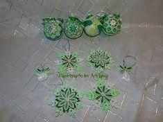 Zeleno-strieborno-biela sada na stromček.. :)