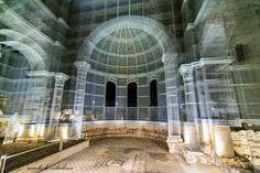 Gabion Stone, Light Art Installation, Geometric Pattern Design, Unique Architecture, Sculpture, Castle, Construction, Layout, Italy