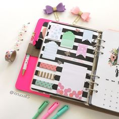 virtuous1g: I used punchers as a cute alternative for my Target stationary. Is it just me, but I'm starting to think that Target has a pretty awesome design team??!!  #Virtuous1GLovesAnOriginal #Filofax